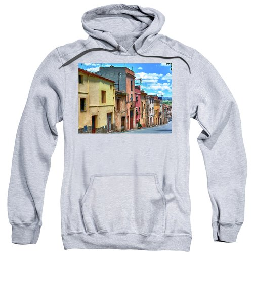Colorful Old Houses In Tarragona Sweatshirt
