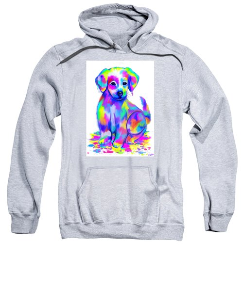 Colorful Painted Puppy Sweatshirt