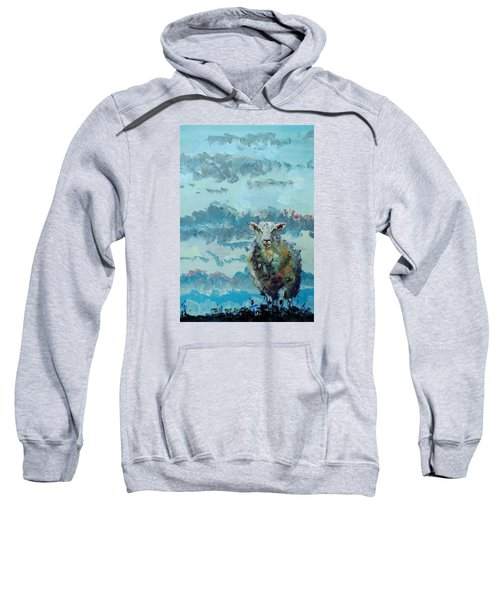 Colorful Sheep Art - Out Of The Stormy Sky Sweatshirt