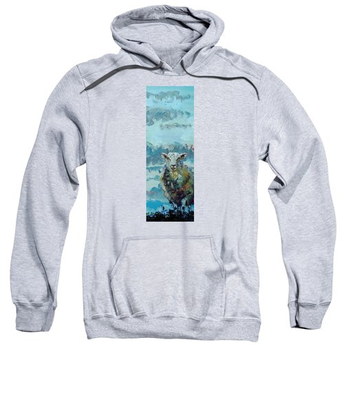 Colorful Sky And Sheep - Narrow Painting Sweatshirt