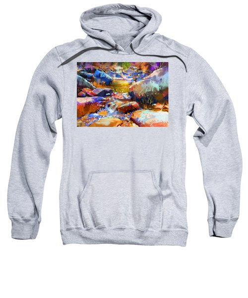 Sweatshirt featuring the painting Colorful Stones by Tithi Luadthong