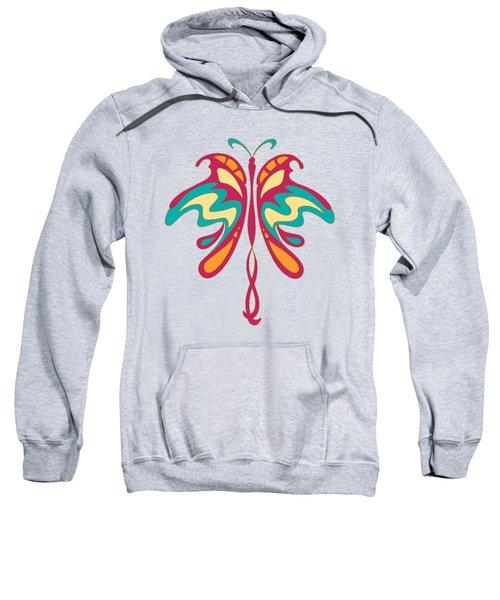 Colourful Art Nouveau Butterfly Sweatshirt by Heidi De Leeuw