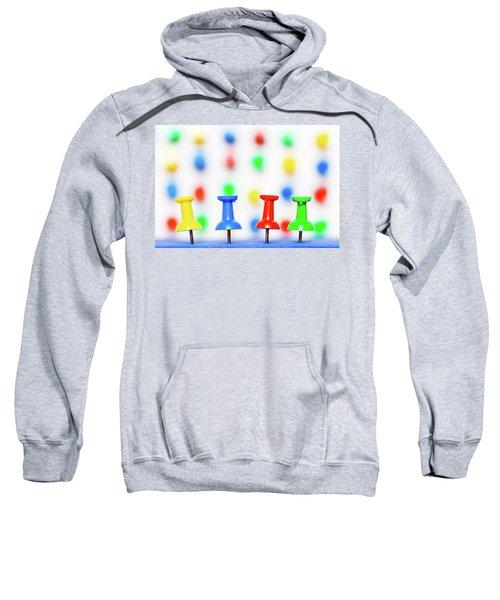 Colourful Pins. Sweatshirt