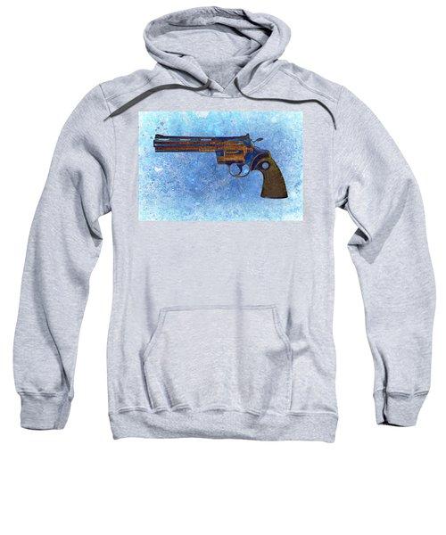 Colt Python 357 Mag On Blue Background. Sweatshirt