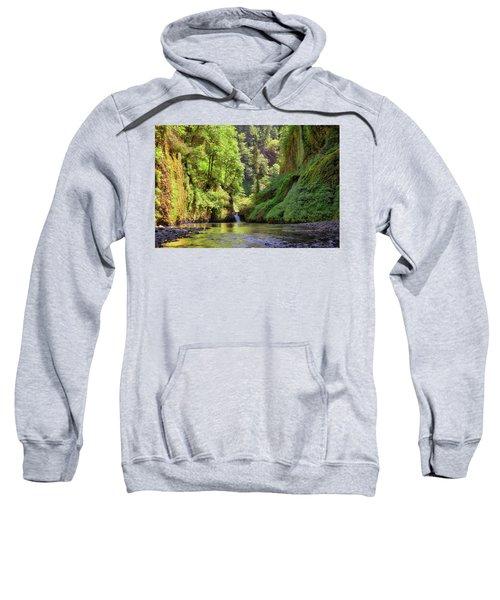 Columbia Gorge Waterfall In Summer Sweatshirt