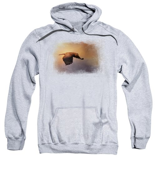 Coming In For The Evening Sweatshirt by Jai Johnson