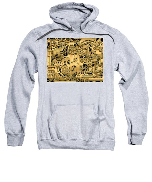 Complexity And Complications - Clockwork Gold Sweatshirt by Serge Averbukh