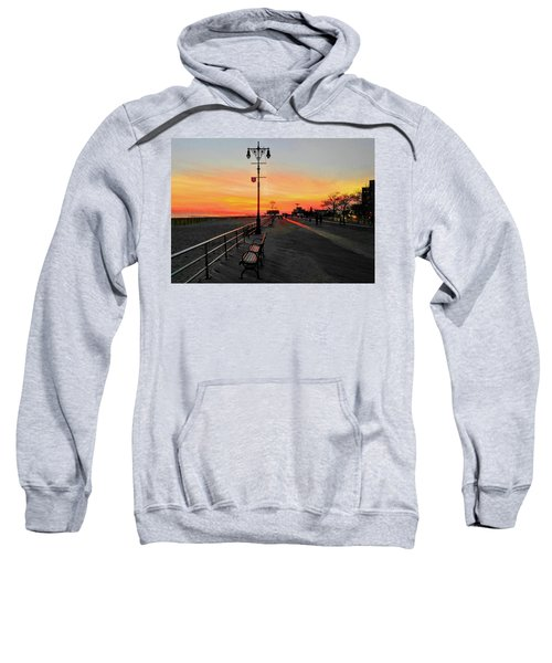 Coney Island Boardwalk Sunset Sweatshirt