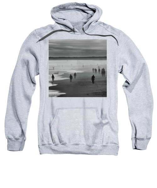 Sweatshirt featuring the photograph Coney Island Walkers by Eric Lake
