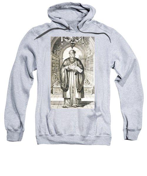 Confucius In A Library Sweatshirt