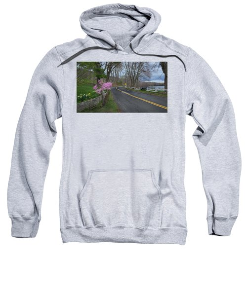Sweatshirt featuring the photograph Connecticut Country Road by Bill Wakeley