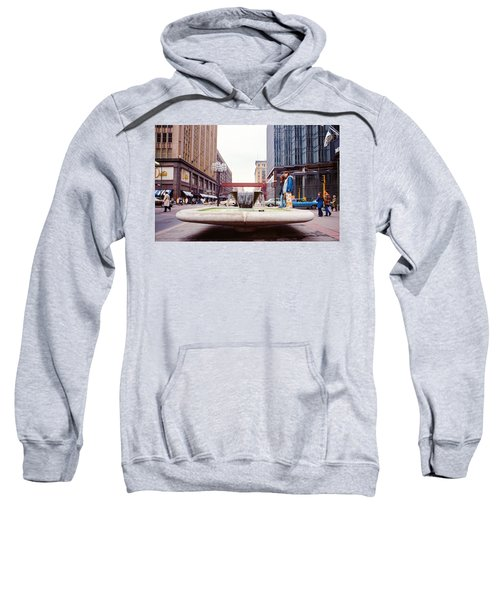Contemplating The Fountain At 8th And Nicollet. Sweatshirt