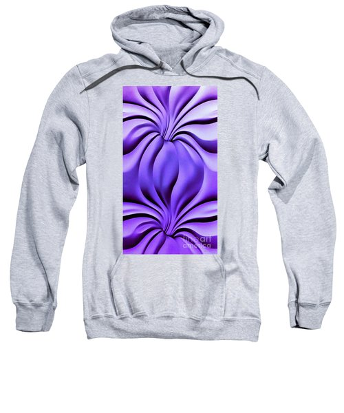 Contemplation In Purple Sweatshirt