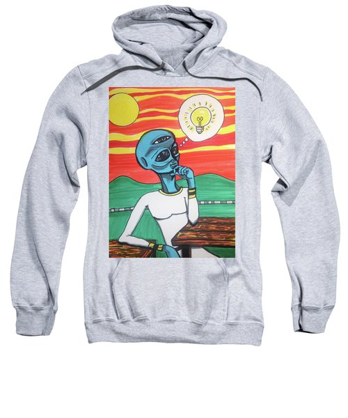 Contemplative Alien Sweatshirt