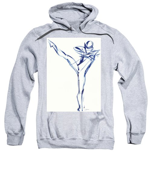 Contemporary Ballet Dancer, Blue Sweatshirt