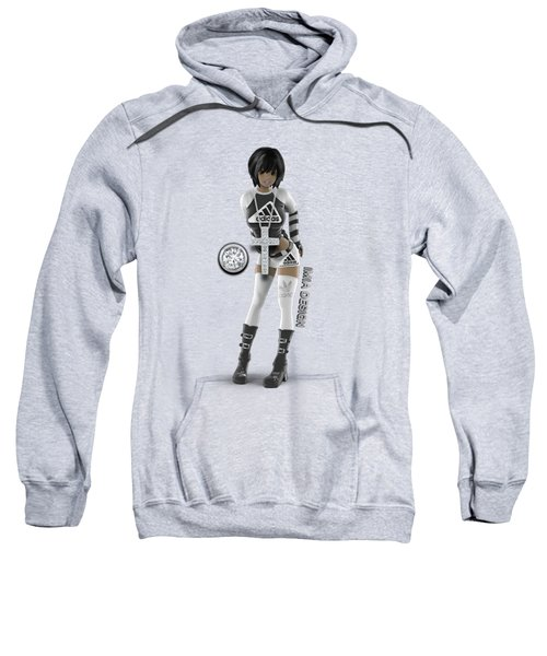 Cool 3d Girl In Black And White Sweatshirt