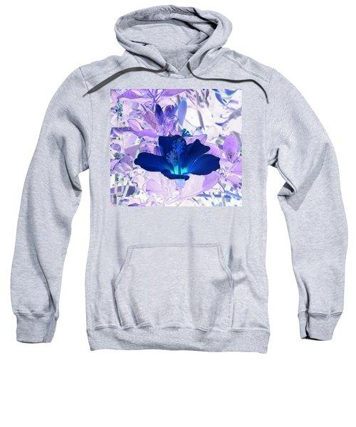 Cool Blue Hawaiian Hibiscus Sweatshirt