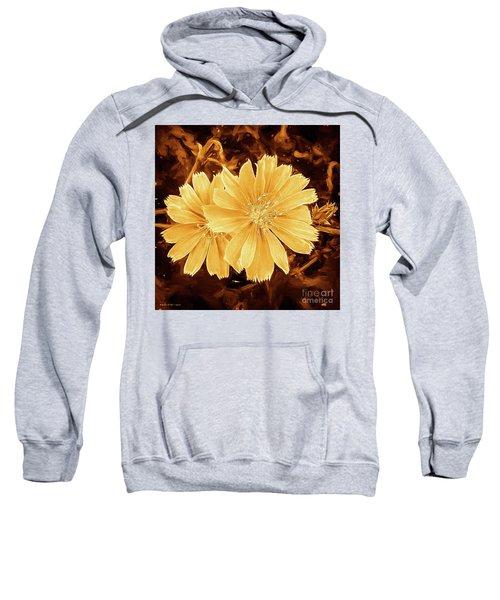 Blue Daisy Twins Copper Sweatshirt