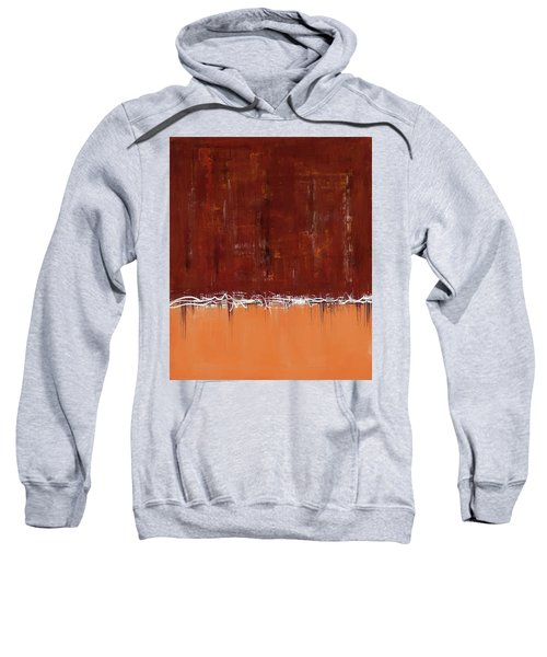 Copper Field Abstract Painting Sweatshirt