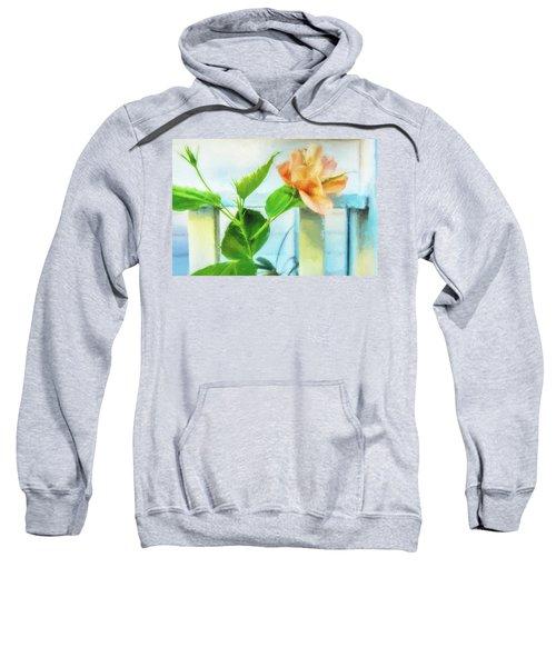 Coral Hibiscus Cezanne Sweatshirt