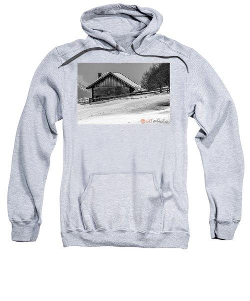 Cottage In Winter Sweatshirt