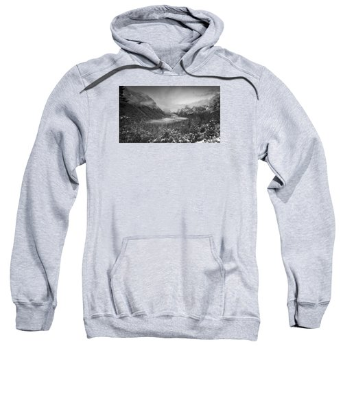 Sweatshirt featuring the photograph Cotton Candy Blankets Yosemite by Lora Lee Chapman
