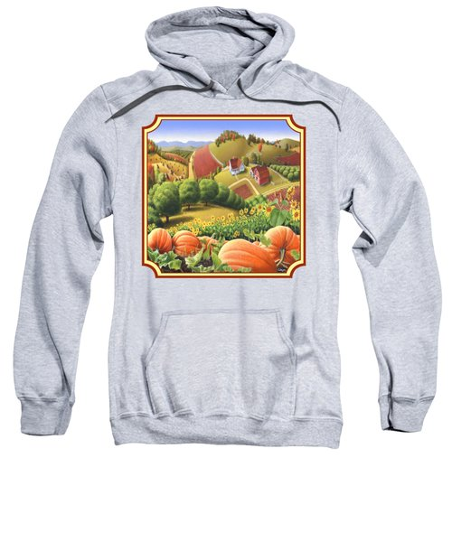 Country Landscape - Appalachian Pumpkin Patch - Country Farm Life - Square Format Sweatshirt by Walt Curlee
