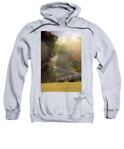 Country Road In Rural Virginia, With Trees Changing Colors In Autumn Sweatshirt