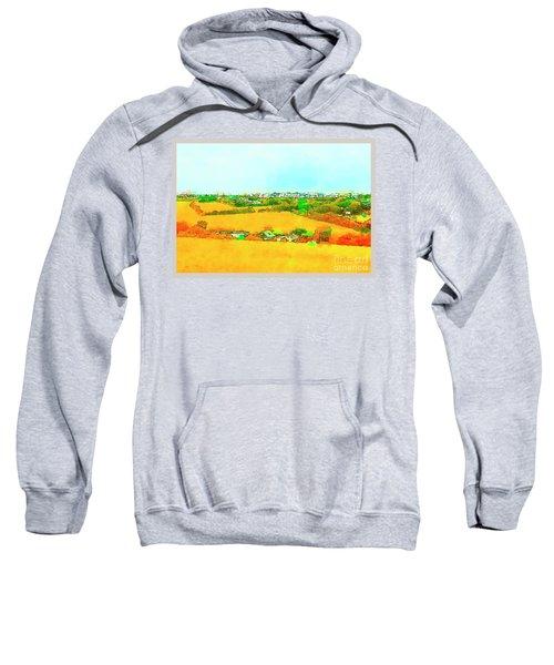 countryside  in Cornwall, UK Sweatshirt