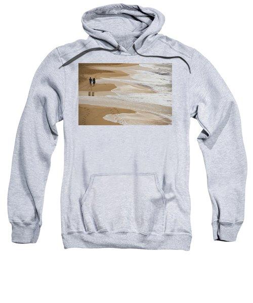 Couple Walking Makena Beach Sweatshirt