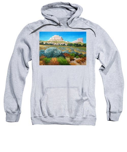 Courthouse And Jail Rocks Acrylic Sweatshirt