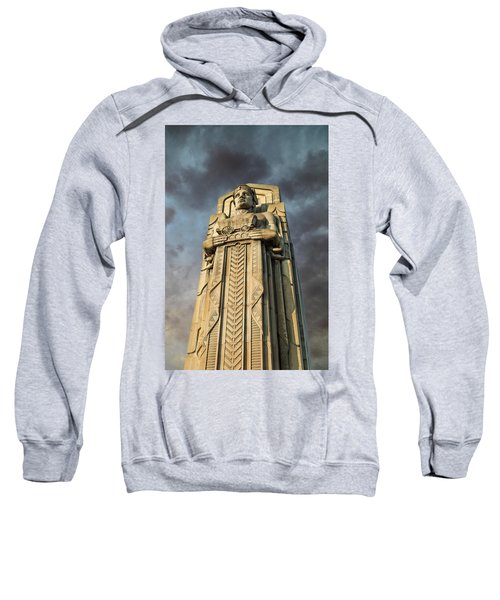 Covered Wagon Guardian On Hope Memorial Bridge Sweatshirt