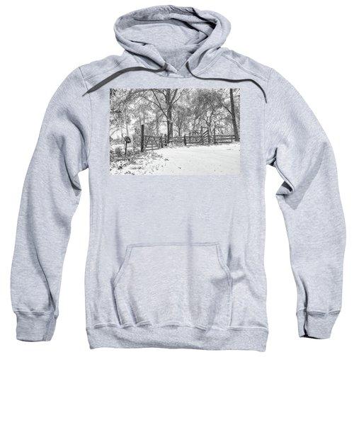 Cow Pen Snow Scene Sweatshirt