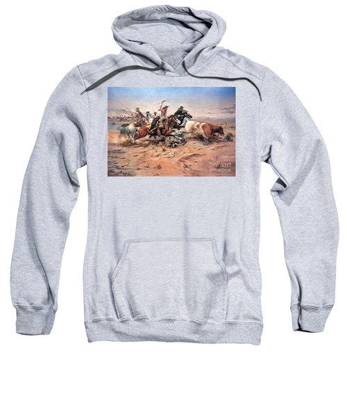 Cowboys Roping A Steer Sweatshirt