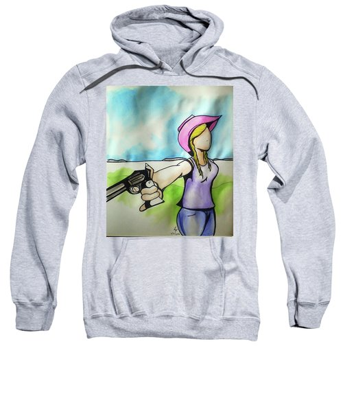 Cowgirl With Gun Sweatshirt