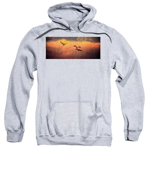 Cranes Lifting Into The Sky Sweatshirt
