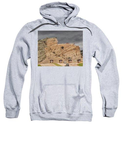 ...entrance Crazy Horse Memorial South Dakota.... Sweatshirt