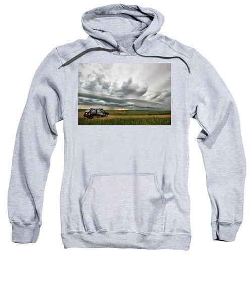 Crazy Shelf Cloud Near Ponteix Sk. Sweatshirt