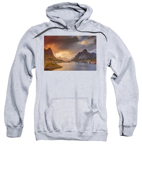 Crazy Sunset In Lofoten Sweatshirt