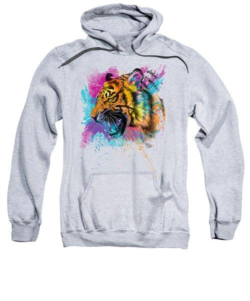 Crazy Tiger Sweatshirt by Olga Shvartsur