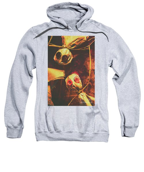 Creepy Halloween Scarecrow Dolls Sweatshirt