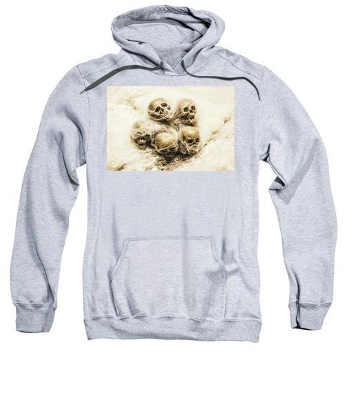 Creepy Skulls Covered In Spiderwebs Sweatshirt