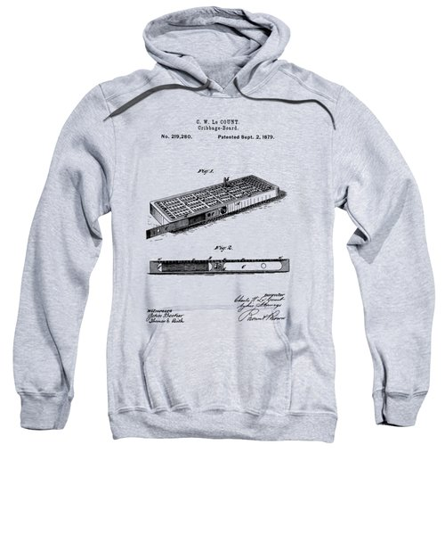 Cribbage Board 1879 Patent Art Transparent Sweatshirt