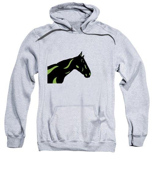 Crimson - Pop Art Horse - Black, Greenery, Purple Sweatshirt