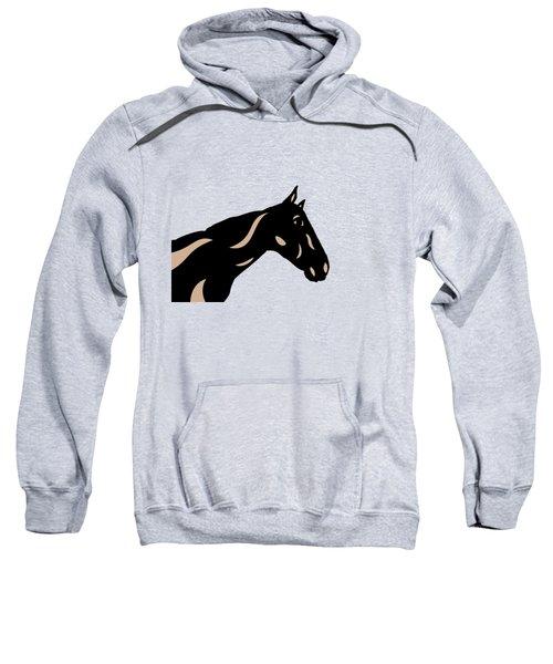 Crimson - Pop Art Horse - Black, Hazelnut, Island Paradise Blue Sweatshirt