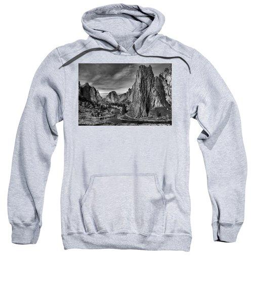 Crooked River Black And White Sweatshirt