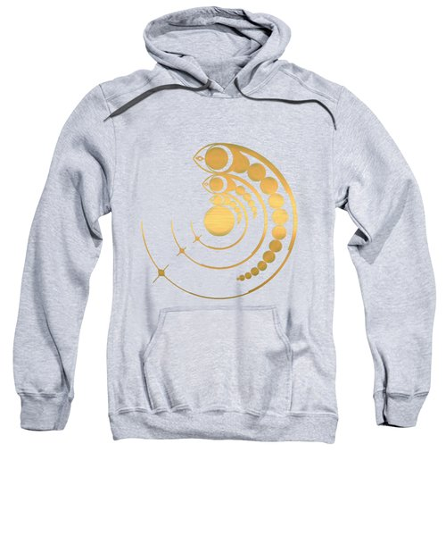 Crop Circle Formation Near Avebury Stone Circle In Wiltshire England In Gold Sweatshirt