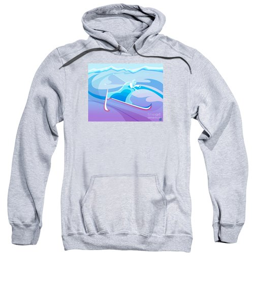 Cross County Skier Abstract Sweatshirt