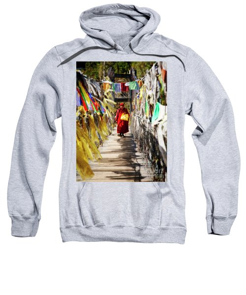 Sweatshirt featuring the photograph Crossing Over by Scott Kemper