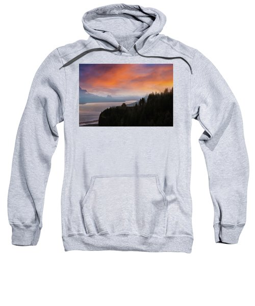 Crown Point At Columbia River Gorge During Sunrise Sweatshirt
